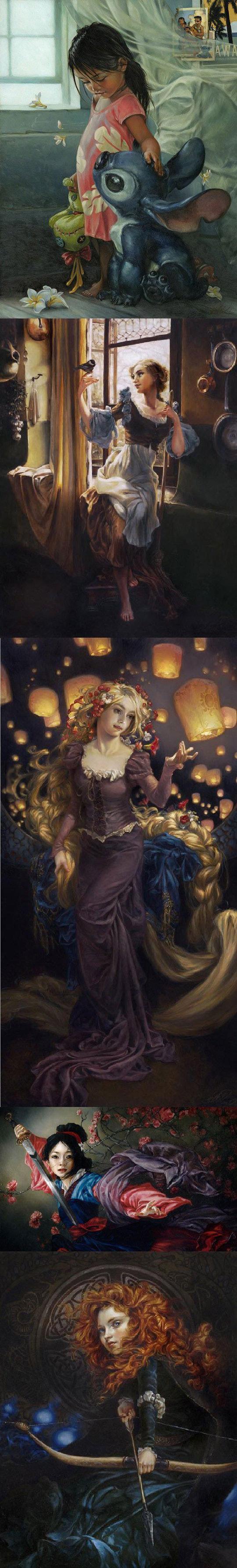 Peinture a l 39 huile disney recherche google disney - Peinture princesse disney ...