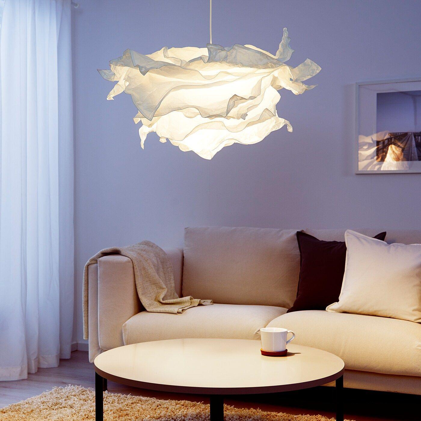 IKEA - KRUSNING Pendant lamp shade, White -   taklampa diy Lamp
