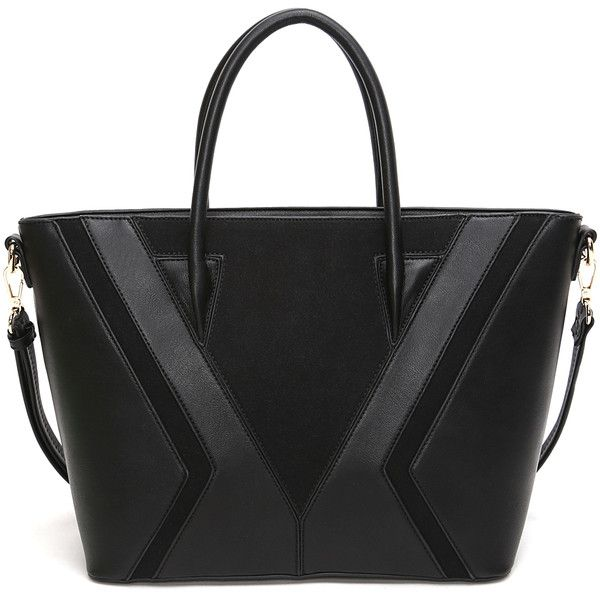 Deluxity Black Kerry Tote ($35) ❤ liked on Polyvore featuring bags, handbags and tote bags