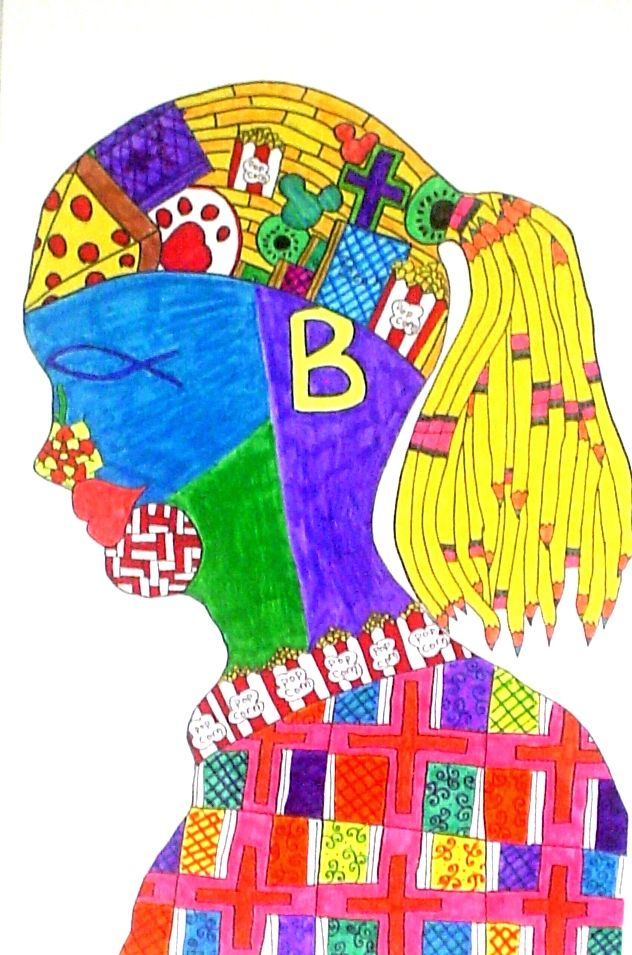 7th Grade Symbol Self Portrait Student Work Galatia Pinterest
