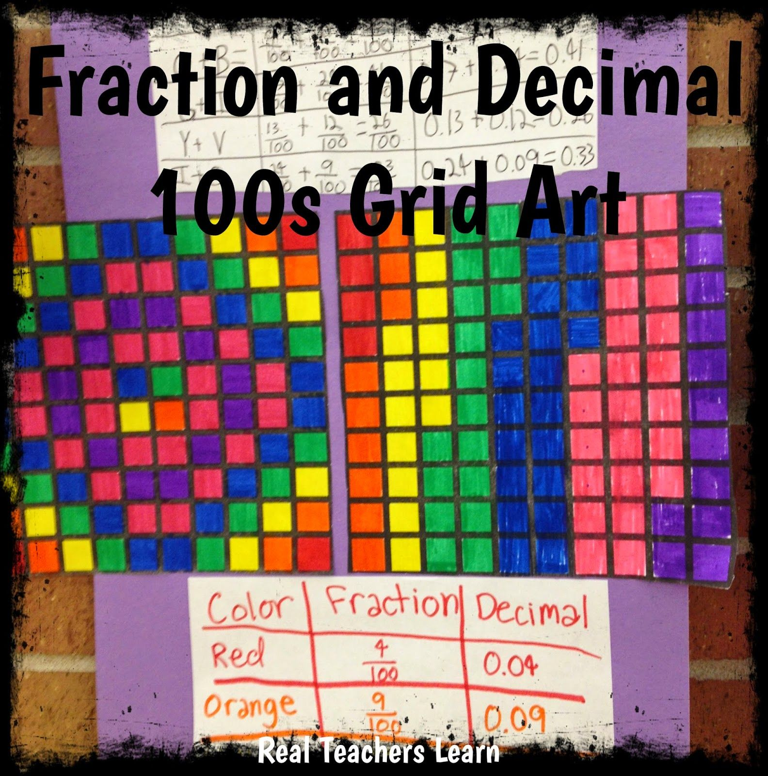 Math Manipulatives And Fraction Art