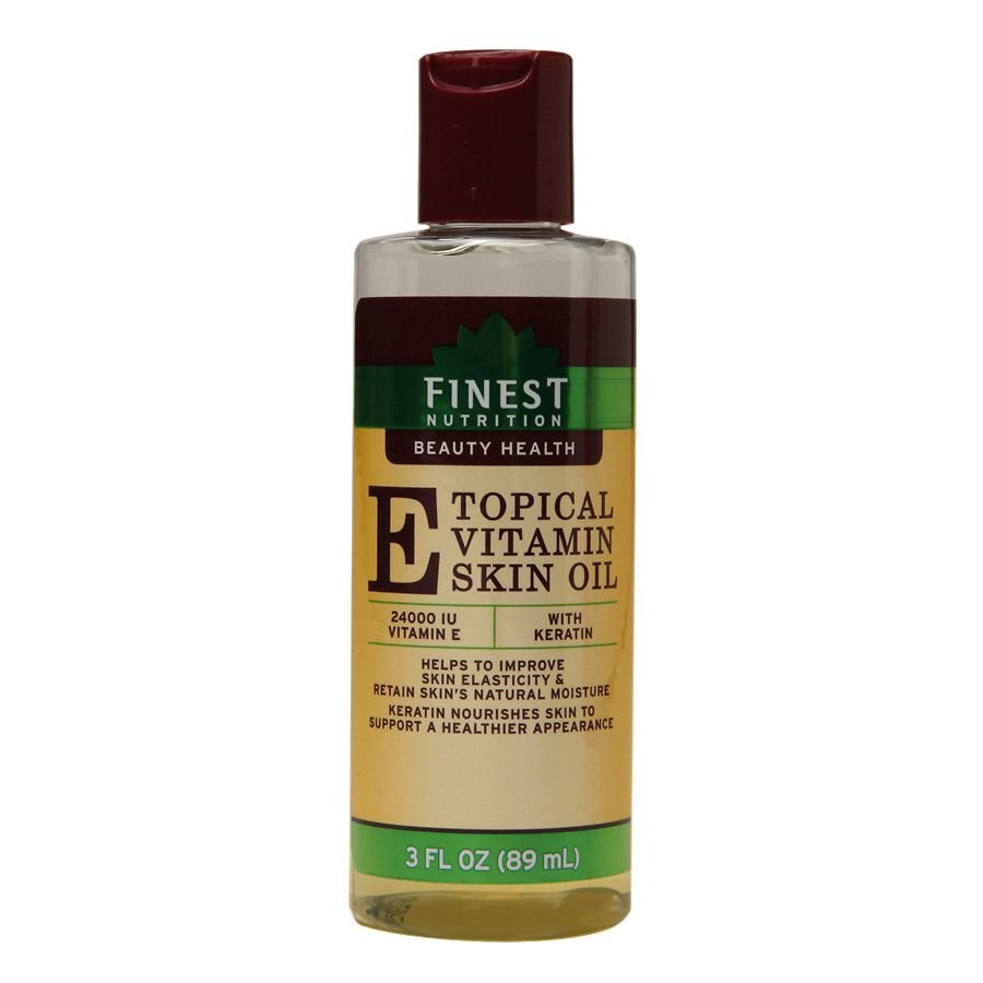 Finest nutrition topical vitamin e skin oil with keratin