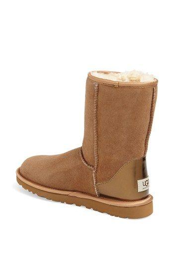 UGG® Australia 'Classic Short' Metallic Patent Boot (Women) | Nordstrom