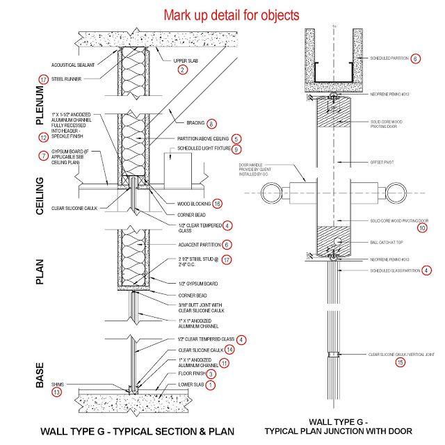 Revit Detail: 01.1 Analysis of full height glass