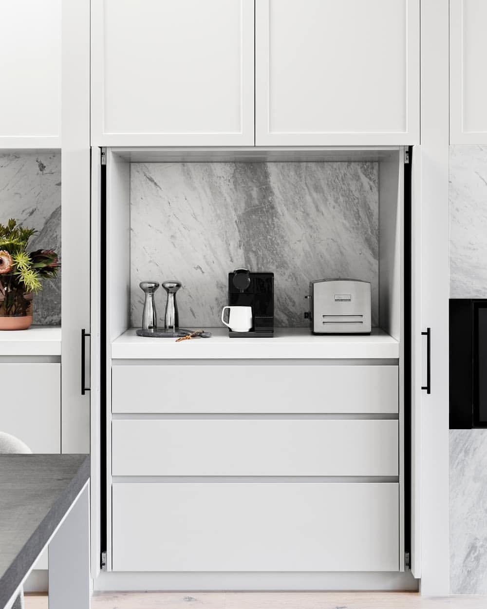 Kitchen Hack Retractable Doors For All Your Hide Away Needs Stkildaproject Giarenovations Retractable Door Kitchens And Bedrooms White Modern Kitchen