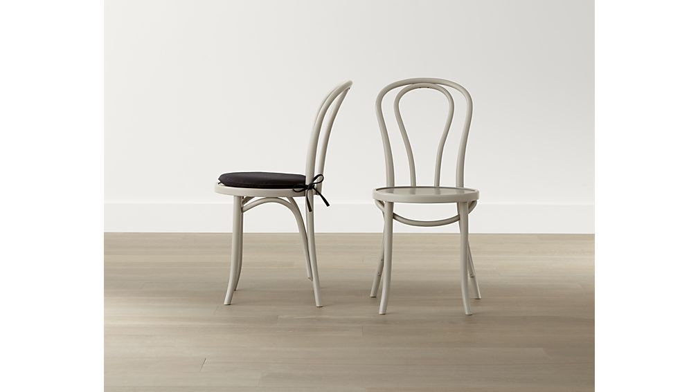 Superieur Vienna Dove Wood Dining Chair   Crate And Barrel