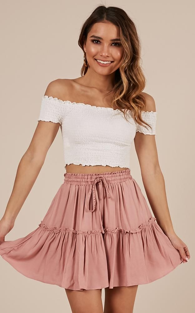 Final Promise Skirt In Blush Produced By SHOWPO is part of Skirts -  5ft 4in