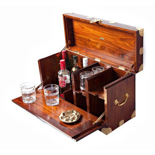 Classic British Campaign Furniture, available from India - Nainital Safari Bar