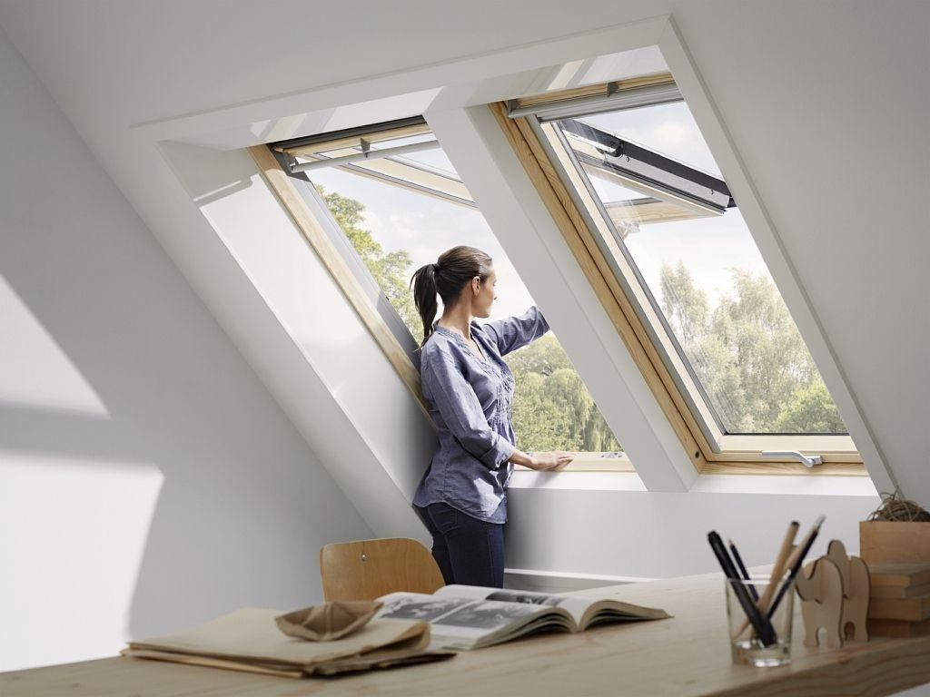 Projection Roof Window Wooden Aluminum Double Glazed Gpl Gpu Velux Fenetre De Toit Lucarne De Toit Maison