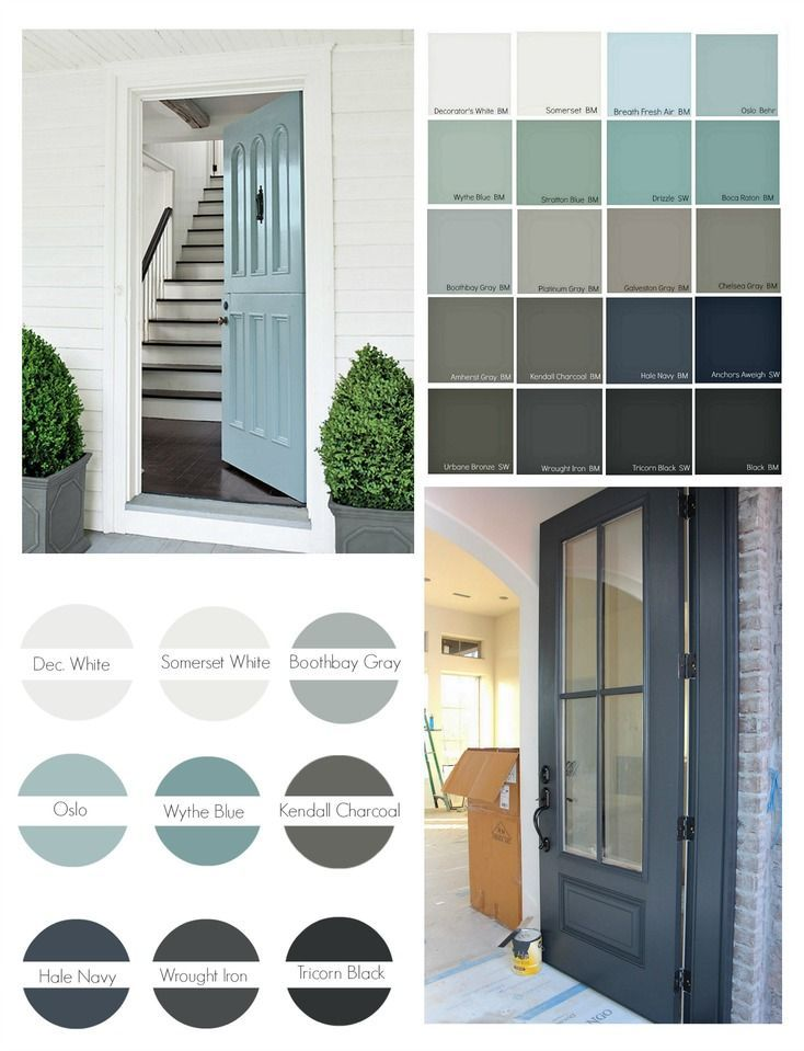 Por Front Door Paint Colors