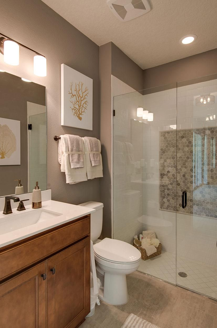 Bathroom With Glass Shower The Marco Floor Plan Drees Homes