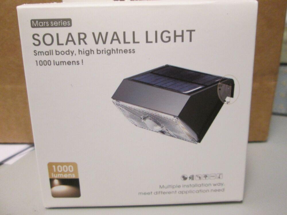 Solar Light Outdoor 1000 Lumen Bright Motion Sensor 3 Light Settings Ebay Solar Lights Motion Sensor Lights Outdoor Outdoor Solar Wall Lights
