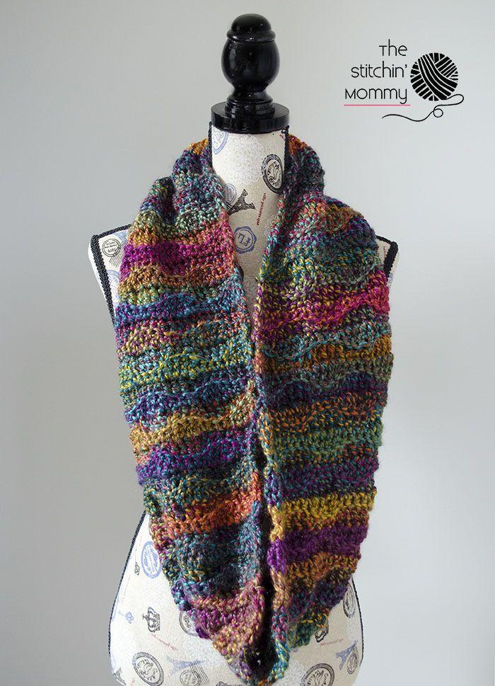 Mystic Waves Infinity Scarf - Free Crochet Pattern | Accesorios de ...