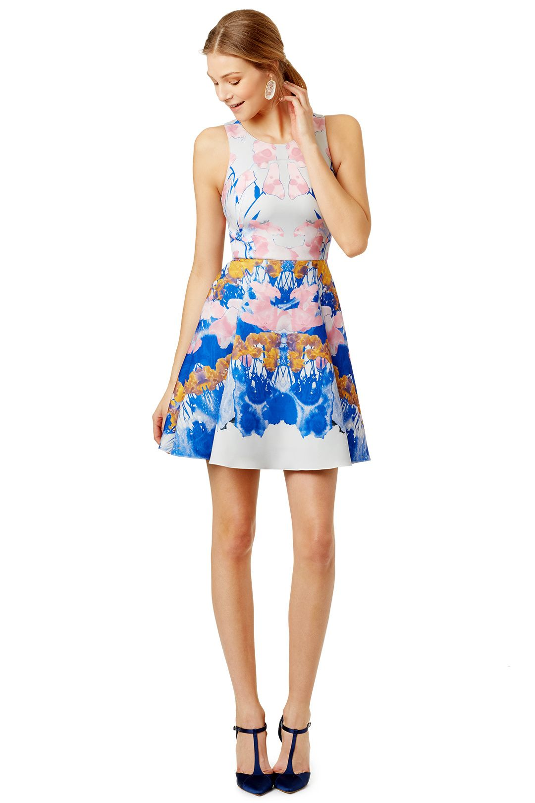 Watercolor Dive Dress By Hunter Bell For 60 Rent The Runway - Rent Dress For Wedding Guest