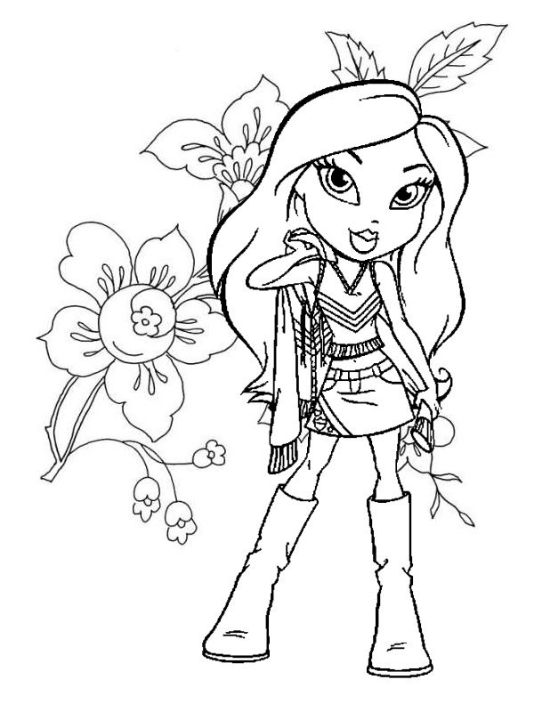 flowerandbratzcoloringpagesjpg 600800 fashion coloring