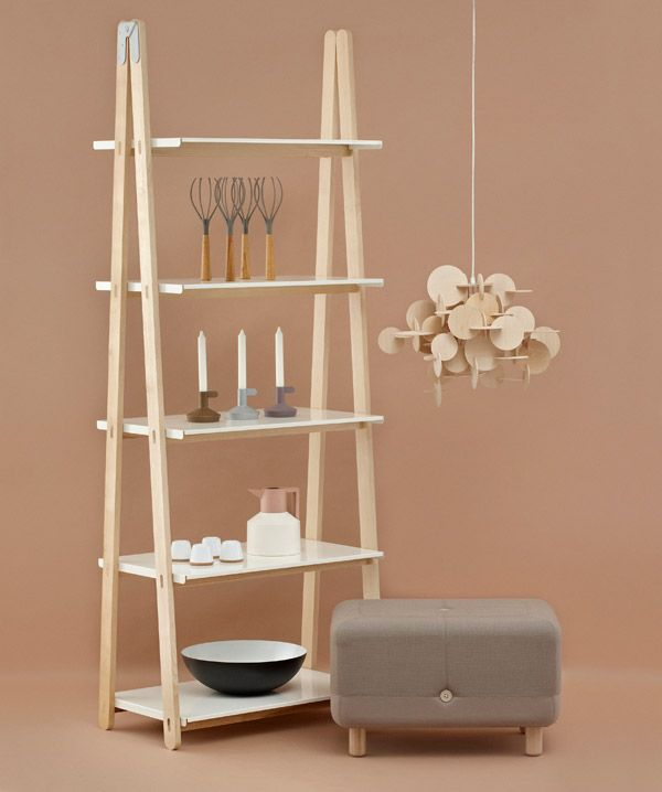 One Step Up Bookcase, Bau Lamp, Sumo Puff.... Normann Copenhagen
