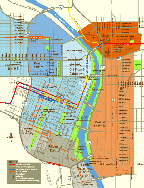 Central Portland, Oregon Map | Family History | Pinterest | Downtown ...