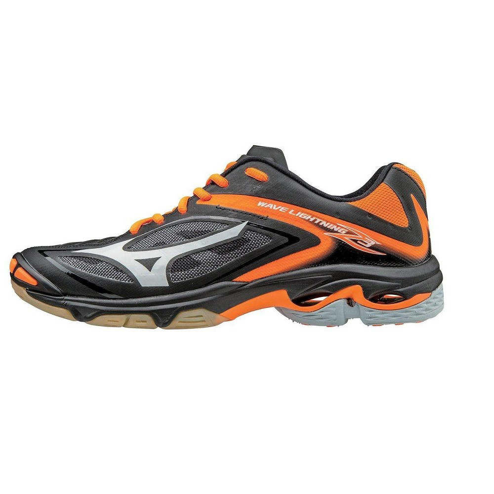 Mizuno Womens Volleyball Shoes Women S Wave Lightning Z3 430228 Size 9 Black Orange 9020 Volleyball Shoes Women Volleyball Women Shoes