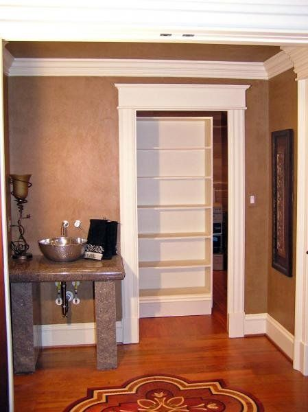 Secret Room Behind Bookshelf Door On Casters No Fancy Hinges