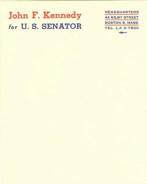 John F Kennedy Letterhead   Letterheady  Design  Layout