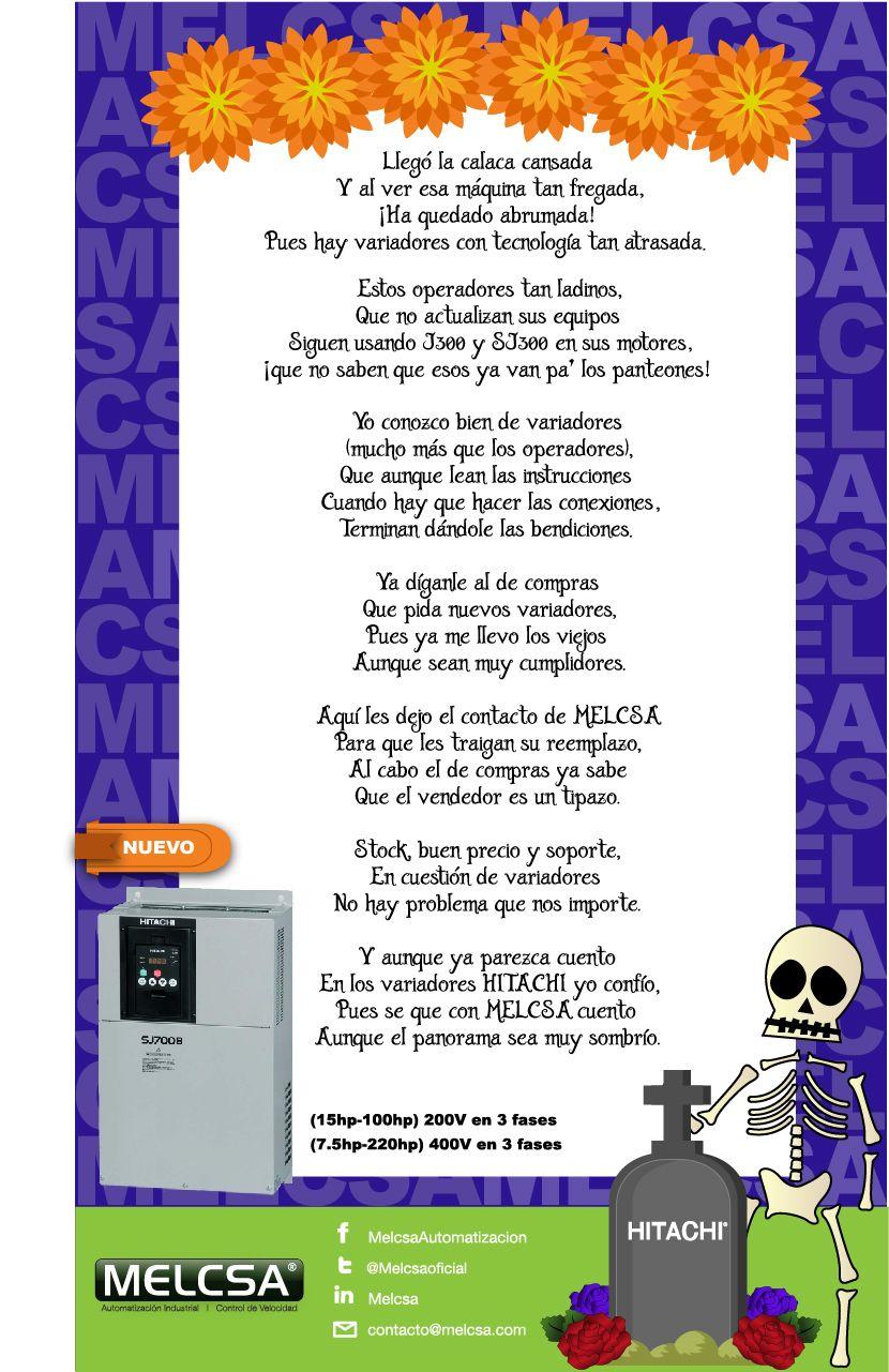 Calaverita Hitachi Calaveras Literarias Dibujo Dia De Muertos