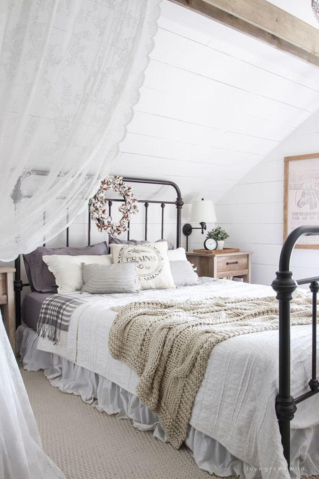 Pin By Denny Ryan On Attic Bedroom   Modern Farmhouse Bedroom
