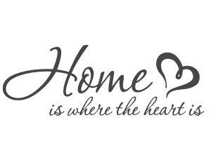 Home Is Where The Heart Is 1 Vinyl Wall Lettering Quote Luwi
