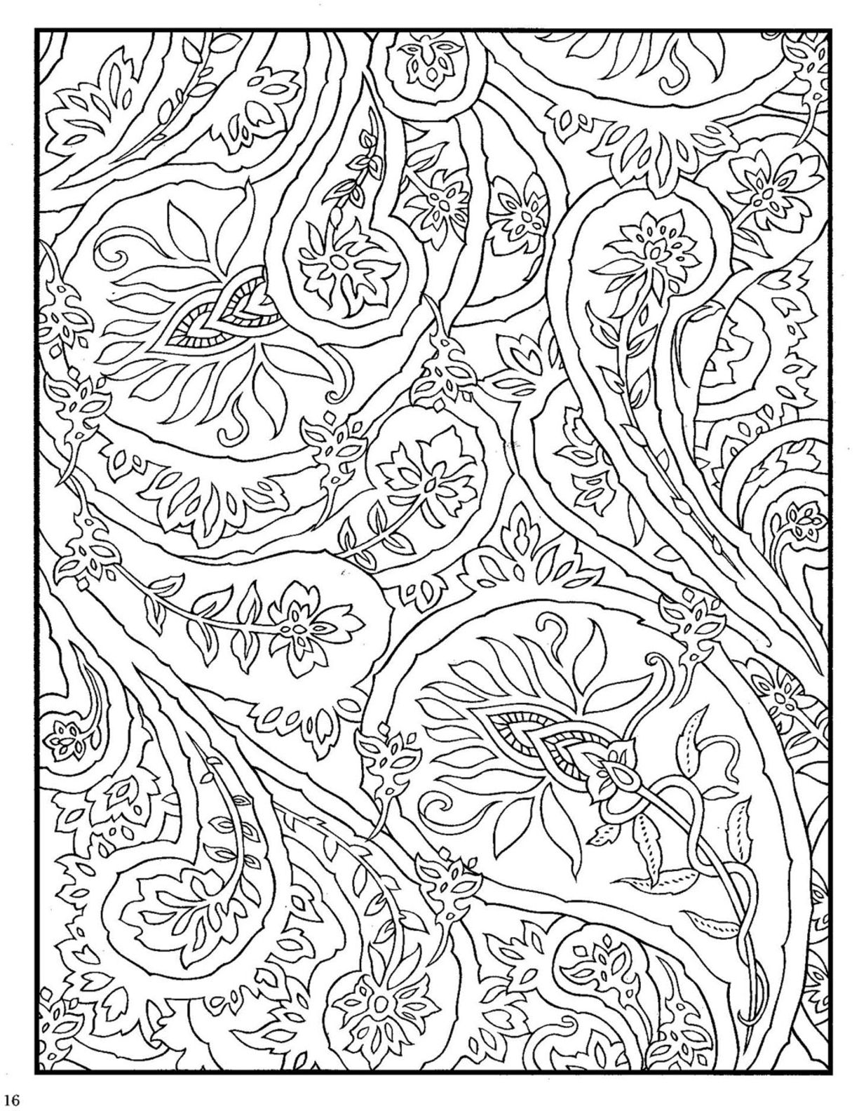 Dover Paisley Designs Coloring