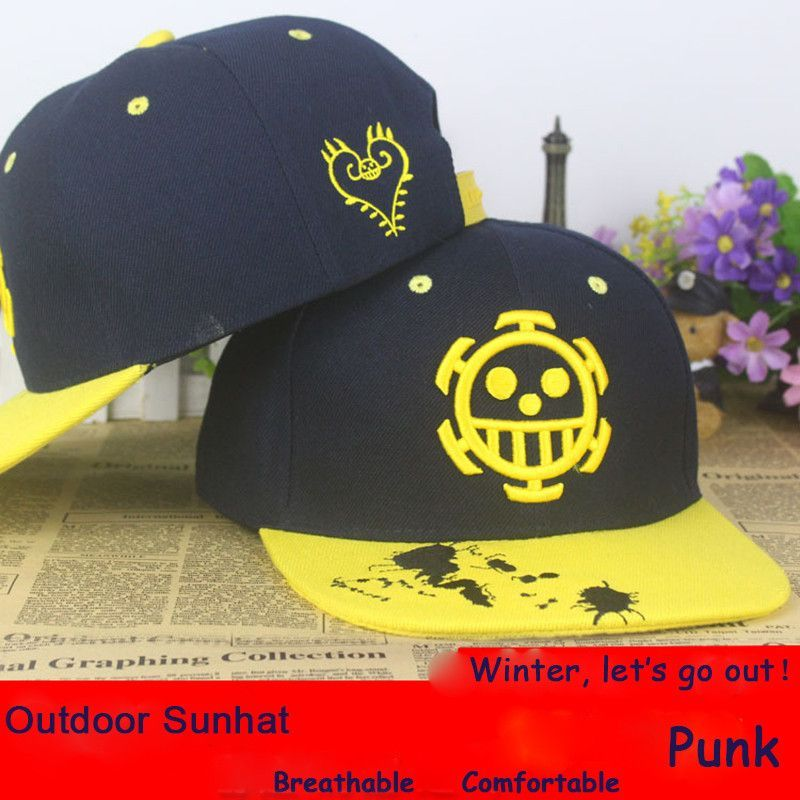 Anime One Piece Trafalgar Law cotton baseball cap Sun hat cosplay gift  Hip-hop 2015 88e12f899d5d