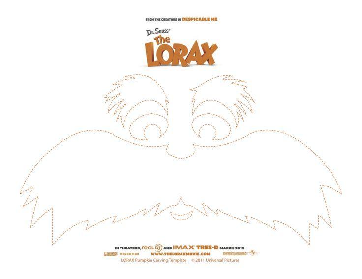 Dr. Seuss Party Theme: Lorax Mustache Printable! (Big version) FREE ...