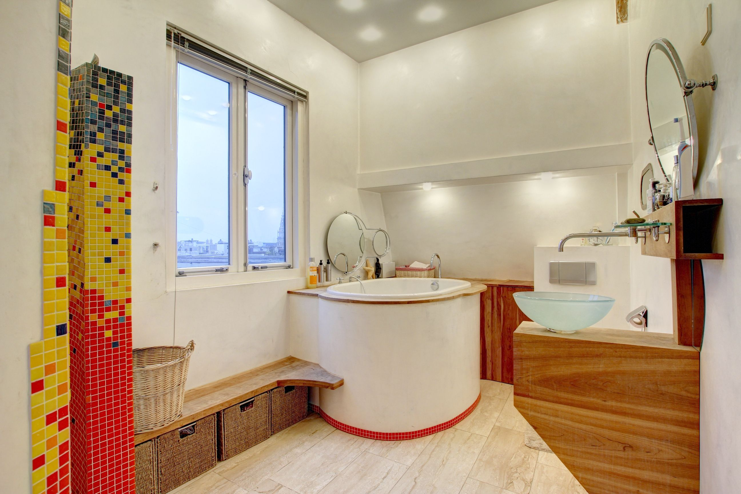 the bathroom with Japanese soaking tub for two and hand shower ...
