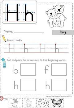 phonics letter of the week h letter of the week phonics kindergarten prep teaching abcs. Black Bedroom Furniture Sets. Home Design Ideas