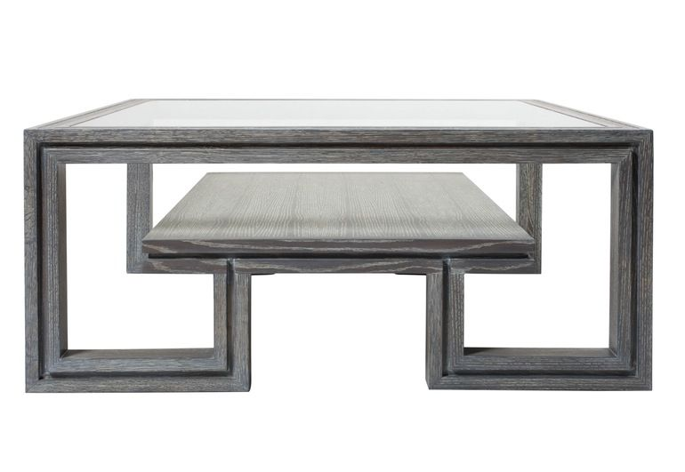 Duncan Grey Coffee Table Transitional, Glass, Coffee Cocktail Table ...