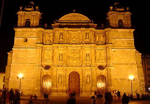 Oaxaca cathedral, Mexico