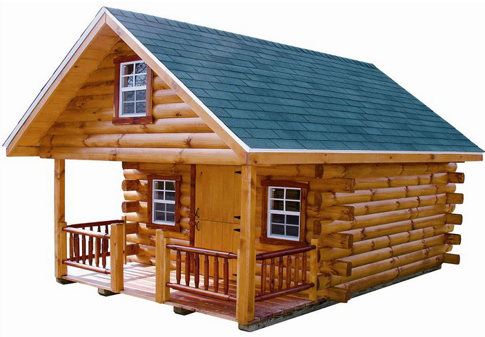 Log Cabin Playhouse With Loft Wooden Global How To Build A