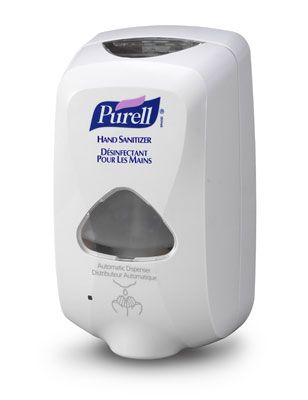 Purell Hand Sanitizer Dispensers Installed In Baby Nursery Hand