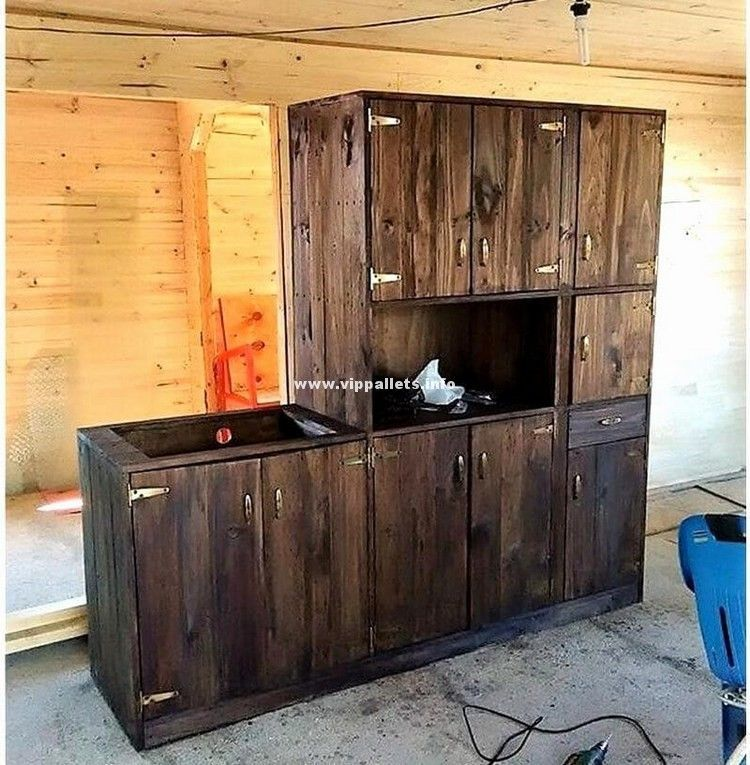 kitchen cabinets from wood pallets New Reusing Ideas for ...