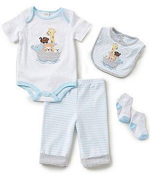 bad0e303129a Starting Out Baby Boys Newborn-9 Months Noah´s Ark 4-Piece Layette ...