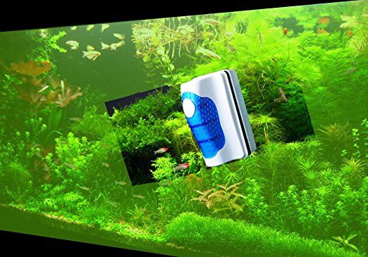 Algae Scrapers Aquarium Glass Cleaner Magnetic Brush Mini Aquariums Algae Cleaning Brush Strong Suction Force Aquarium Glass Cleaner Fish Bowls Brush Suitable for Small Fish Tank