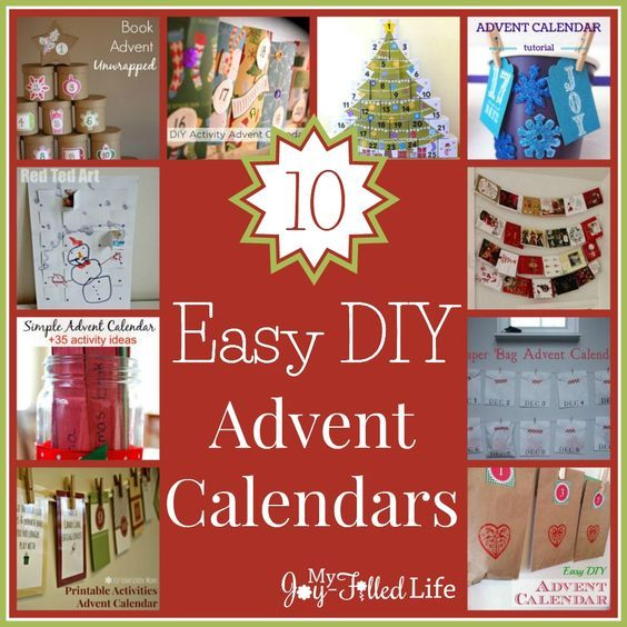 10 Easy DIY Advent Calendars calendars Pinterest Advent