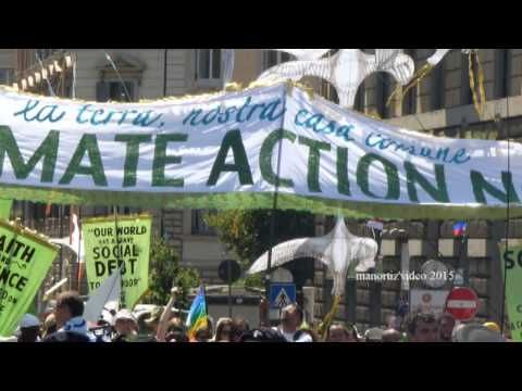 One Earth, One Human Family, march from Piazza Farnese in Rome to St  Pe...