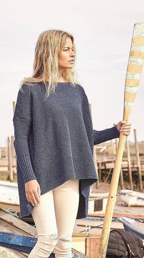 джемпер оверсайз спицами схемы вязания свитеров Oversize Knit