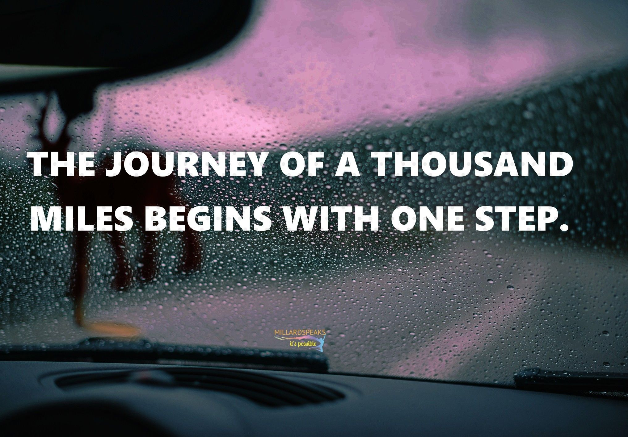 The Journey Of A Thousand Miles Begins With One Step Nelson