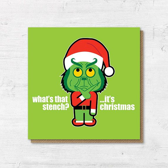 Grinch Christmas Card Funny Christmas Cards The Grinch