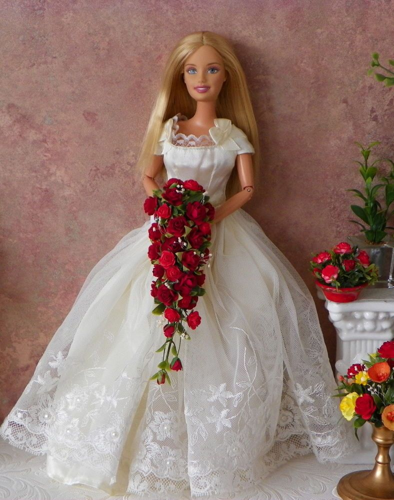 Barbietonnerrevlon tyler sydney wedding red bouquet flowers new