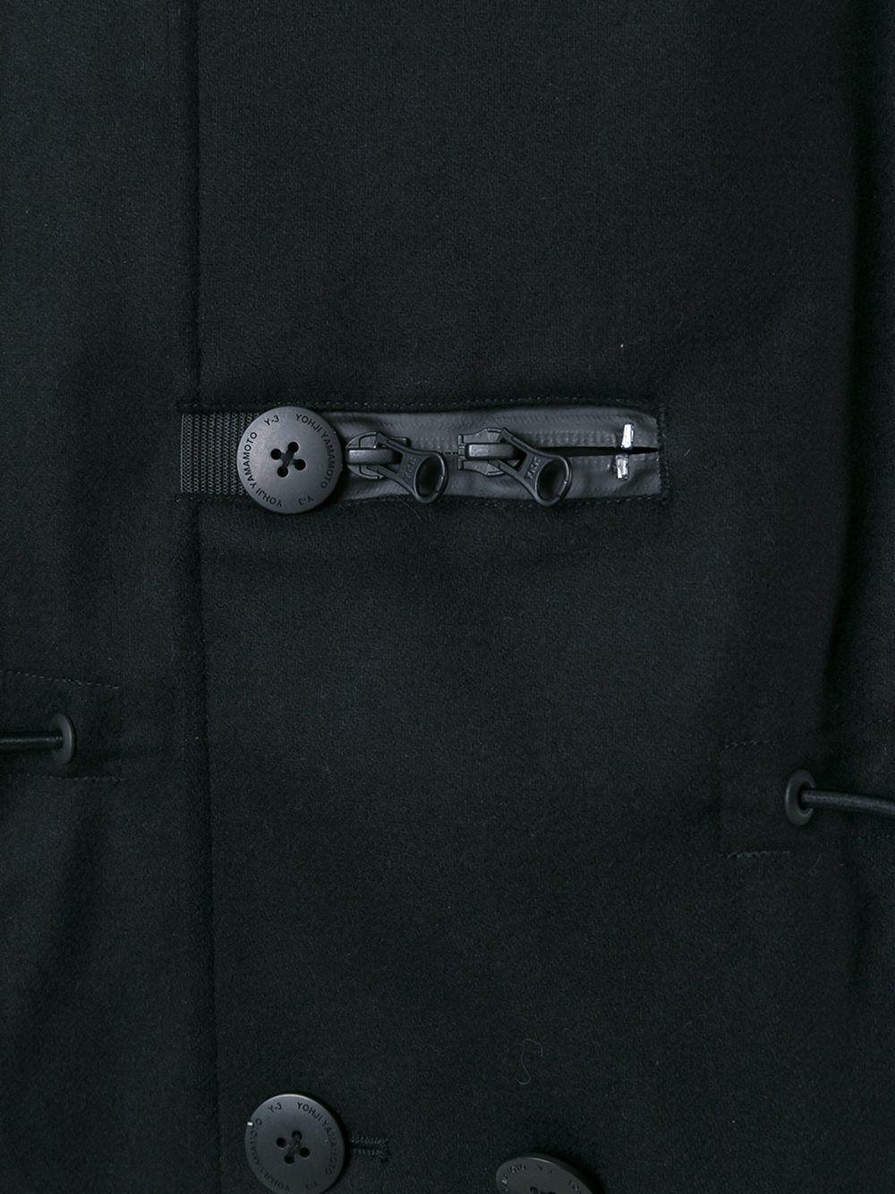 Y-3 Casaco midi com bolsos
