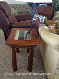 Trash to Treasure Decorating: Another Table from a Repurposed Piano~Love!!!!