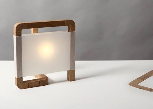 lmpara de mesa de diseo original de interior de madera c l arca