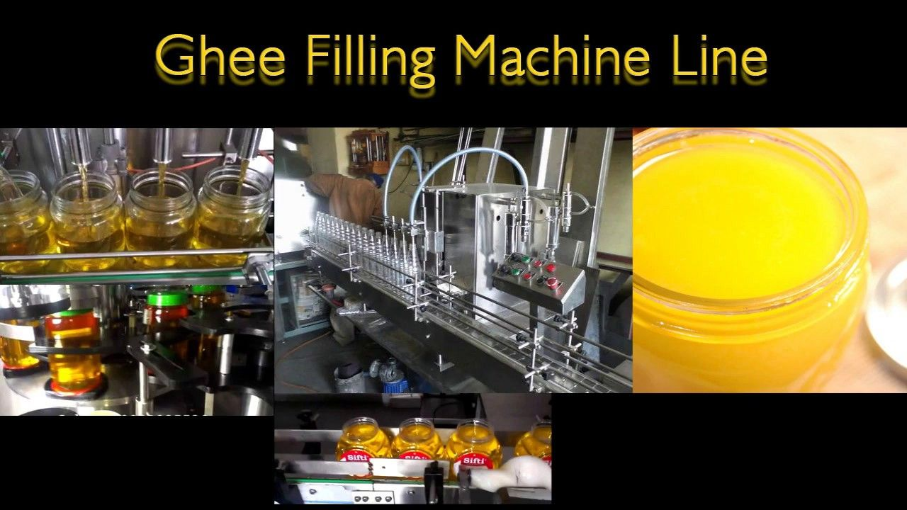 Ghee Filling Capping Induction Sealing Machine