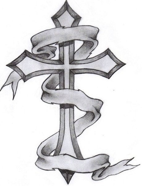 Cross Tattoos For Men Gothic Cross Tattoo Drawing And Wings Cross